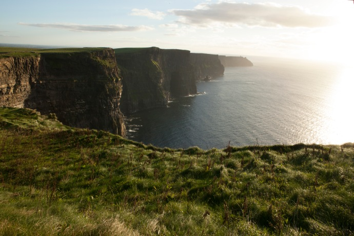 The Cliffs of Moher at sunset. County Clare, Ireland. 2013