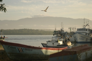 Early morning as the sun rises over the fishing village of Puntarenas, in Costa Rica. 2009