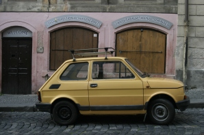 Euro Car on the Streets of Prague.
