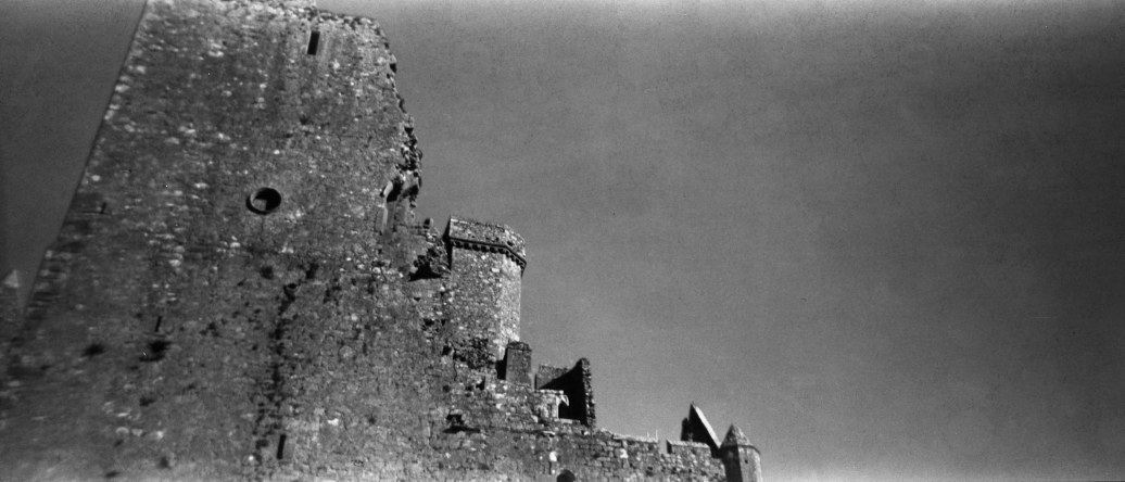 The Rock of Cashel, in Ireland. Shot with my Holga 120 Pan film camera.