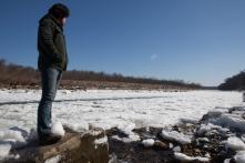 Surveying the frozen Potomac