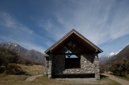Shelter in Aoraki/Mt. Cook National Park, New Zealand.